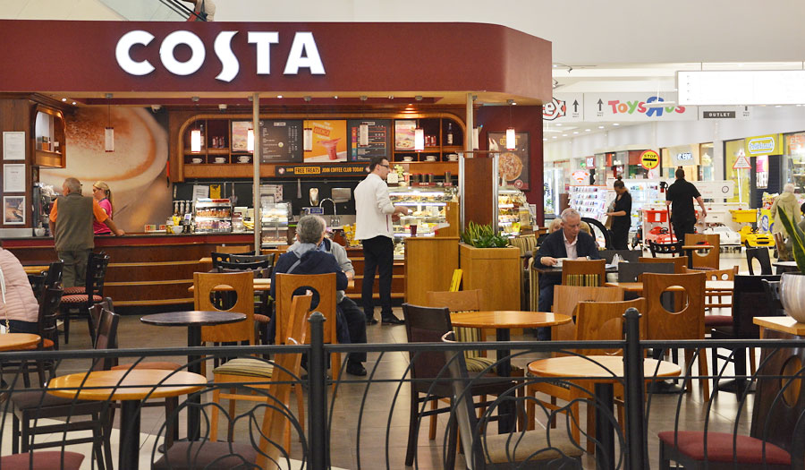 Costa Coffee The Forge Shopping Centre Glasgow